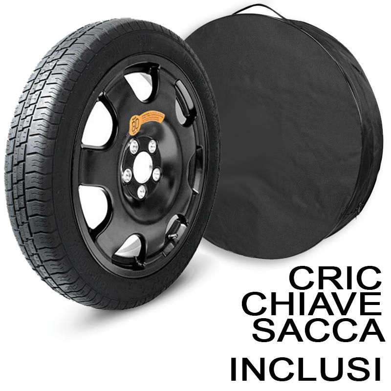 ACC. RUOTINO LEGA 125/80R16 4X100 60,1 (Cric Chiave Sacca INCL) (Ingombro cm 62H X 14L)
