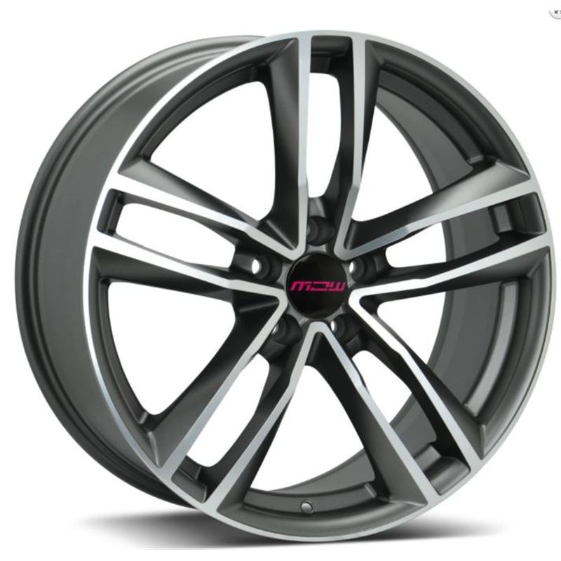 MC WHEELS NELSON GUN METAL POLISHED