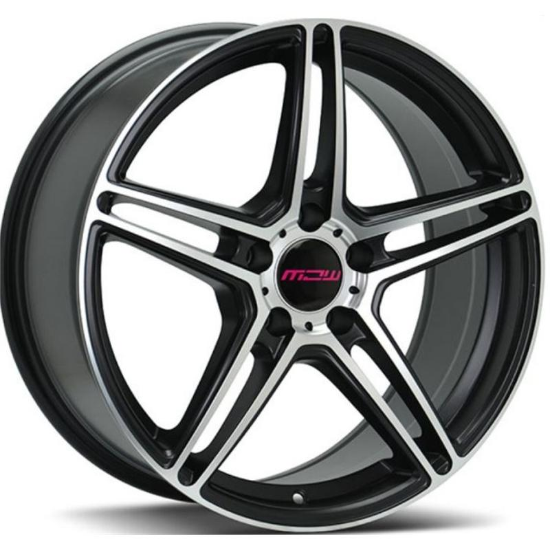 mc wheels CIRCUIT BLACK POLISHED