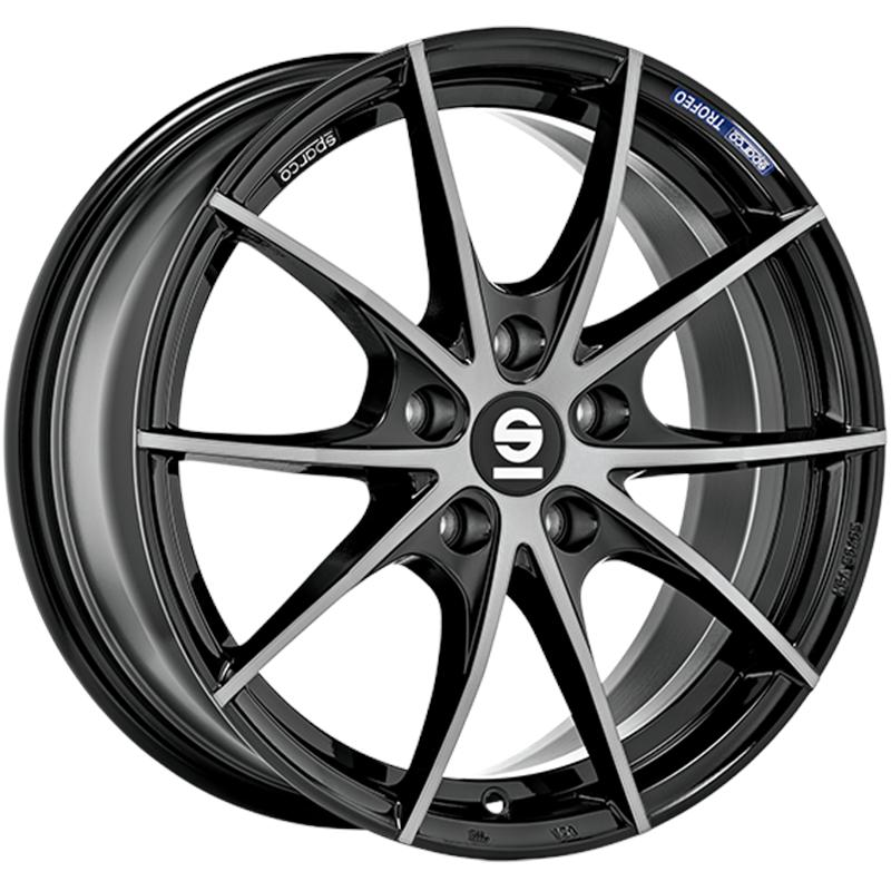 sparco TROFEO 5 FUME' BLACK FULL POLISHED