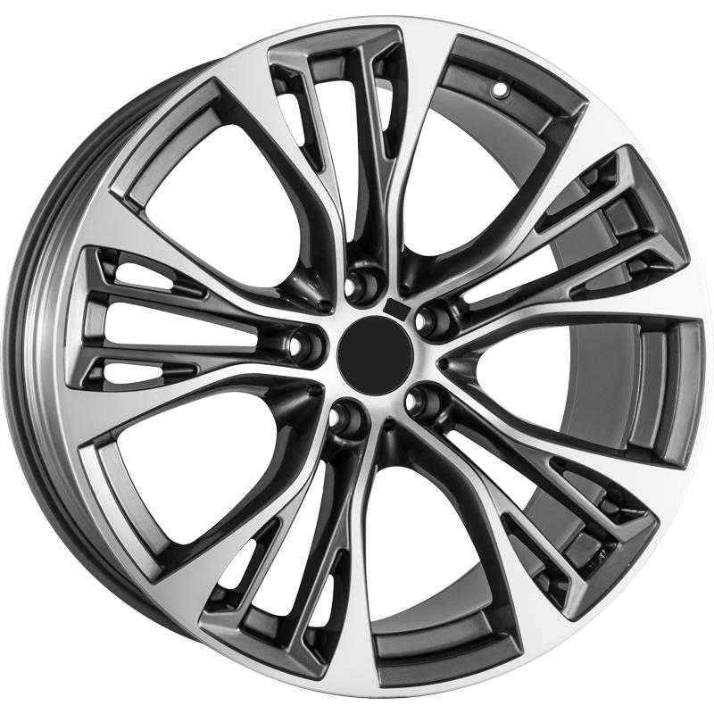 optional wheels PSASS - DEDICATED BMW - (Omol ECE) GUN METAL POLISHED